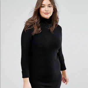 Brave Soul Plus TurtleNeck Sweater Dress from ASOS